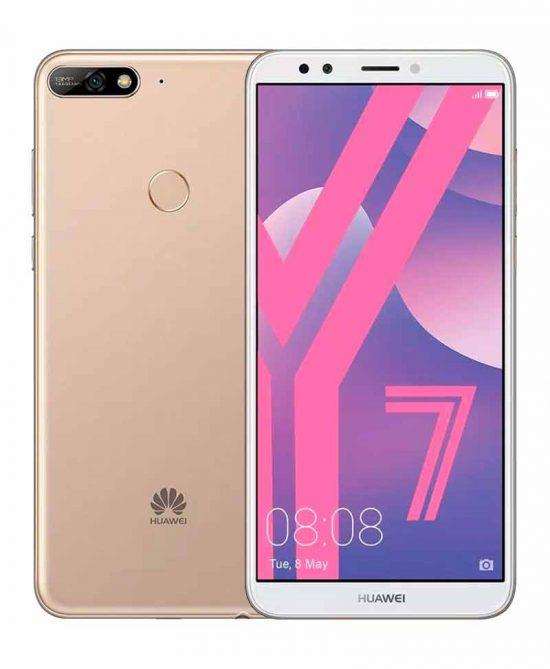 smartphones peru huawei y7 2018 16gb dorado venta celulares peru tienda 01
