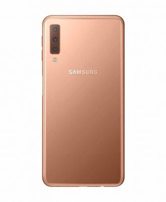 smartphones peru samsung galaxy a7 2018 64gb dorado venta celulares peru tienda 02