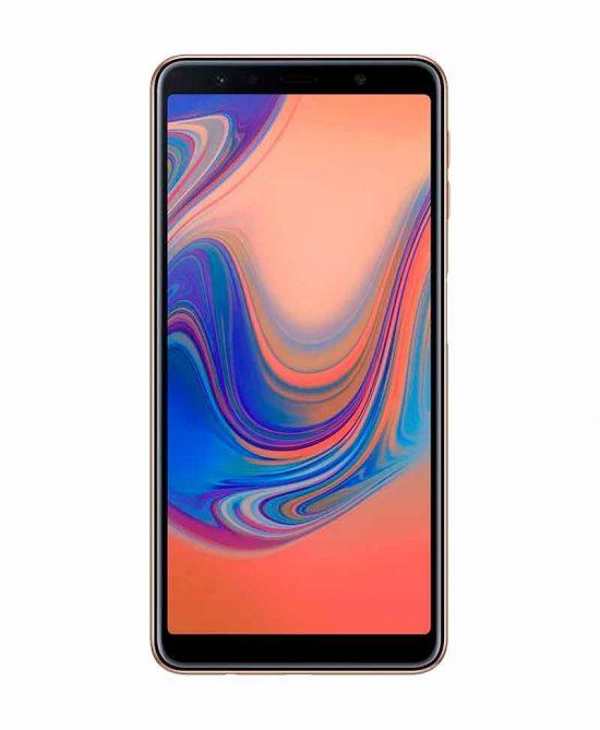 smartphones peru samsung galaxy a7 2018 64gb dorado venta celulares peru tienda 03