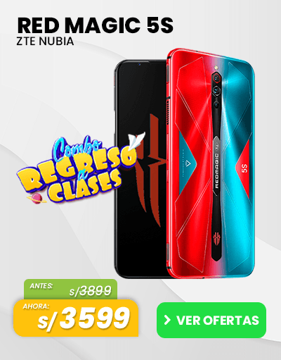 Oferta c nubia red magic elulares gamer regreso a calses smartphones peru