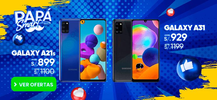 oferta del galaxy A21s y el galaxy A31 por el dia del padre smartphones peru venta de celulares y servicio tecnico
