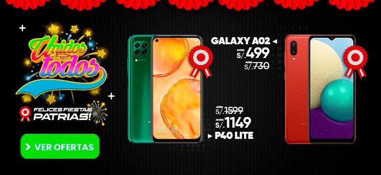 samsung Galaxy A02 y p 40 lite oferta de fiestas patrias smartphones peru venta de celulares y servicio tecnico.png