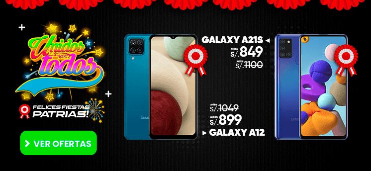 samsung galaxy a21s y samsung galaxy A12 oferta de fiestas patrias smartphones peru venta de celulares y servicio tecnico.png